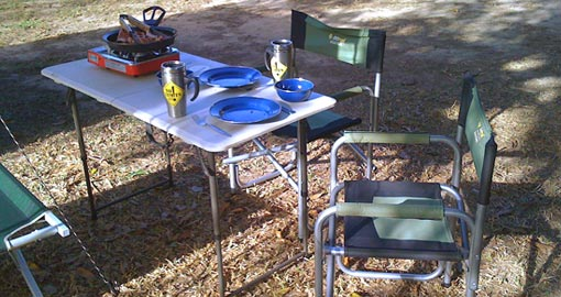 camping gear for hire